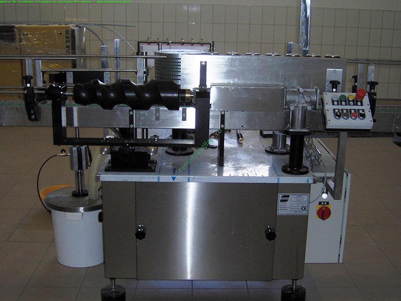 Masina de etichetat circulara cu eticheta din hartie